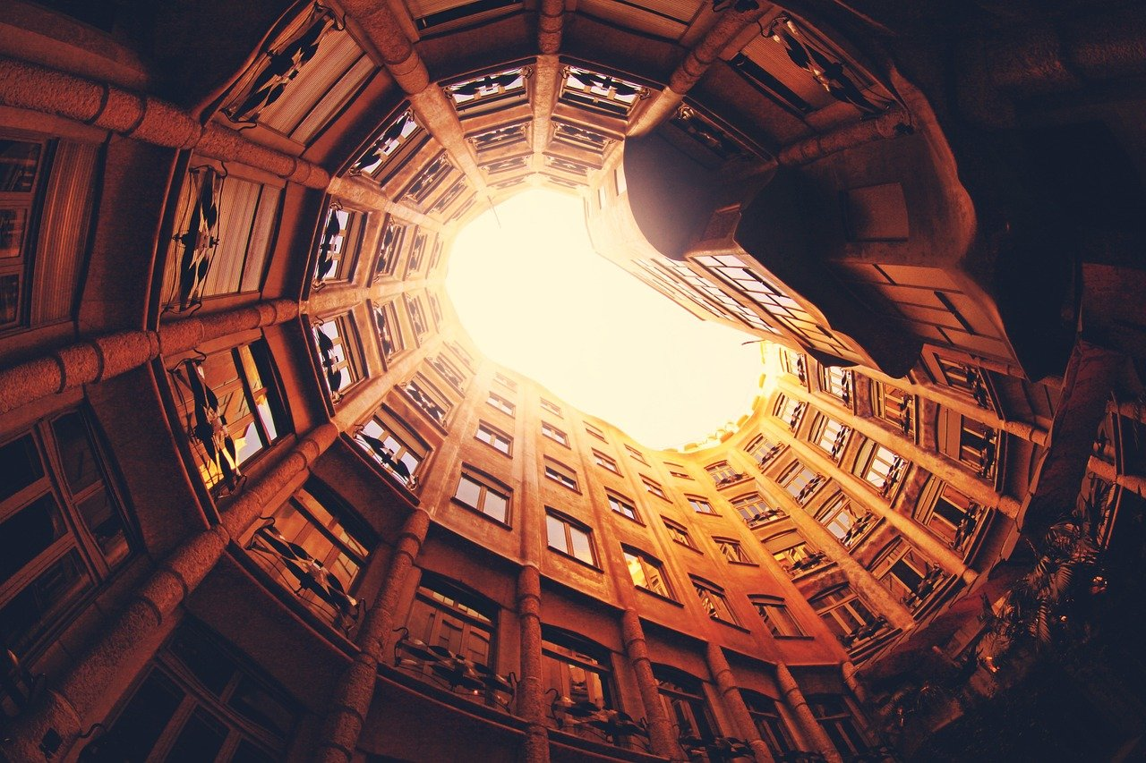 spiral, architecture, interior